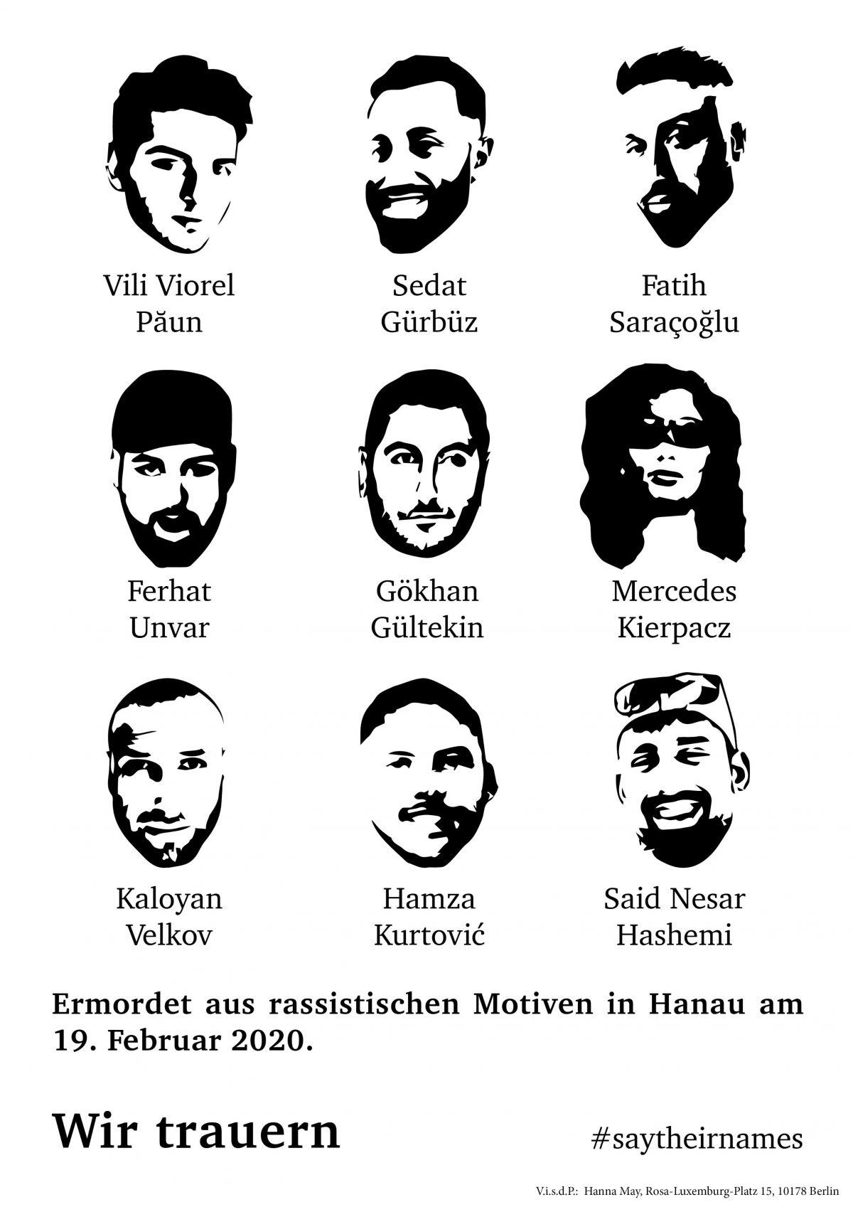 8. Mai: Im Gedenken an die Opfer, Überlebenden und Hinterbliebenen des Anschlags in Hanau